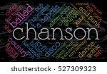 chanson. word cloud  italic...   Shutterstock .eps vector #527309323