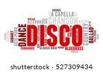 disco. word cloud  type font ... | Shutterstock .eps vector #527309434