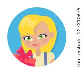 girl with fair hair and... | Shutterstock .eps vector #527310679