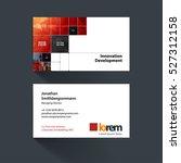 vector business card template... | Shutterstock .eps vector #527312158