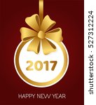happy new year 2017 round... | Shutterstock .eps vector #527312224
