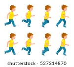 kid running animation set. boy... | Shutterstock .eps vector #527314870