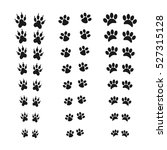 footprints of animal paw. web... | Shutterstock .eps vector #527315128