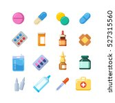 medicine cartoon pill  drug ... | Shutterstock .eps vector #527315560