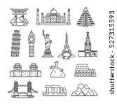 international country landmark... | Shutterstock .eps vector #527315593