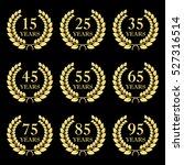 anniversary laurel wreath icon... | Shutterstock .eps vector #527316514