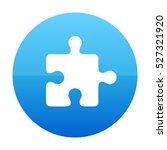 puzzle blue vector icon | Shutterstock .eps vector #527321920