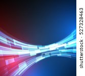 techno geometric vector circle... | Shutterstock .eps vector #527328463