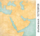 blank map of middle east ... | Shutterstock . vector #527328928