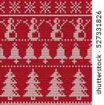knitted christmas and new year... | Shutterstock .eps vector #527331826