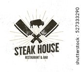 steak house vintage label.... | Shutterstock .eps vector #527333290