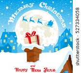 merry christmas banner.... | Shutterstock .eps vector #527334058