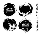 black round abstract ink smears ... | Shutterstock .eps vector #527337088
