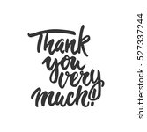 thank you very much   hand... | Shutterstock .eps vector #527337244
