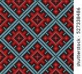 knitted geometric motley... | Shutterstock .eps vector #527338486