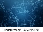 abstract polygonal space blue... | Shutterstock . vector #527346370