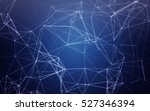 abstract polygonal space blue... | Shutterstock . vector #527346394