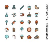 candy  desserts  ice cream ... | Shutterstock .eps vector #527350330