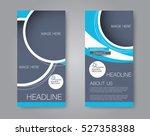 vector flyer and leaflet design.... | Shutterstock .eps vector #527358388