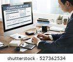 curriculum vitae resume job... | Shutterstock . vector #527362534