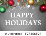 christmas decoration  with text ... | Shutterstock . vector #527366524