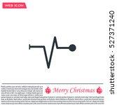 heart beat  cardiogram. pulse... | Shutterstock .eps vector #527371240