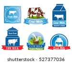 fresh natural milk graphics... | Shutterstock .eps vector #527377036
