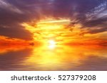 amazing colorful sea sunset... | Shutterstock . vector #527379208