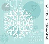 vector calendar january 2017 | Shutterstock .eps vector #527380126