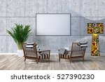two armchairs and blank picture ... | Shutterstock . vector #527390230
