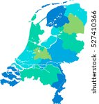 netherlands map | Shutterstock .eps vector #527410366