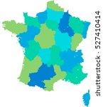 france map | Shutterstock .eps vector #527410414