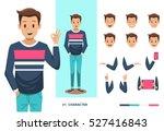 man character design | Shutterstock .eps vector #527416843