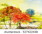 Painting  Landscape Watercolo...