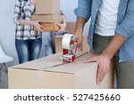 house moving concept. closeup... | Shutterstock . vector #527425660