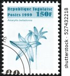 Small photo of TOGO - CIRCA 1999: A stamp printed in Togo, shows the flower Amaryllis belladonna, circa 1999
