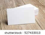 business card on wood | Shutterstock . vector #527433013