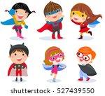 superhero kids boys and girls... | Shutterstock .eps vector #527439550