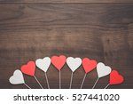 Red And White Heart Shapes On...