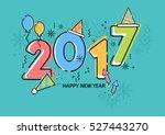 happy new year vector... | Shutterstock .eps vector #527443270