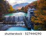 landscape of autumn and fall... | Shutterstock . vector #527444290
