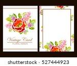 vintage delicate invitation... | Shutterstock . vector #527444923