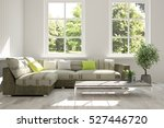 white room with sofa and green... | Shutterstock . vector #527446720