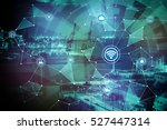 duo tone graphic of smart... | Shutterstock . vector #527447314