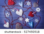 set of christmas decor on... | Shutterstock . vector #527450518