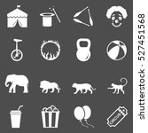 vector set of circus icons | Shutterstock .eps vector #527451568