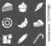 vector set of dessert icons.... | Shutterstock .eps vector #527452480