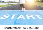 running race track start point. ... | Shutterstock . vector #527453080