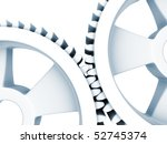 interlocking gears - stock photo