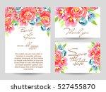 romantic invitation. wedding ... | Shutterstock . vector #527455870